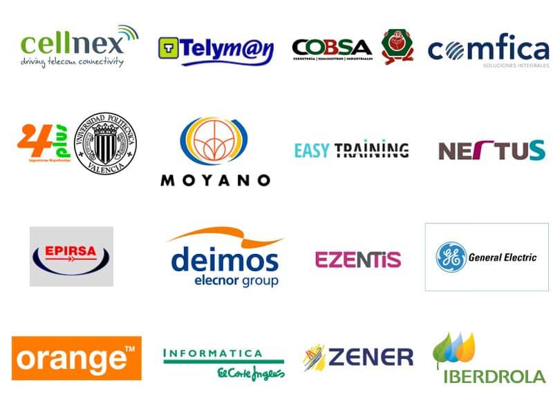 Logos de las empresas que confian en Cibar